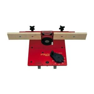 Xacta Lift Router Table Lift Deluxe Fence 3 5 8 Opening Anodized Aluminum Plate