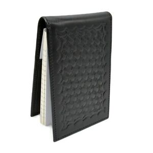 Police Basketweave Leather Notebook Cover Note Pad Style Duty Memo Book 3x5