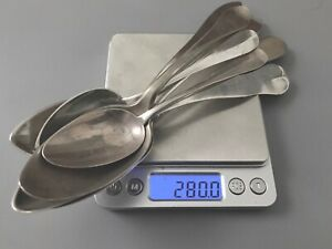 Antique 19th Century Solid Silver Sterling Spoon Lot Scrap Or Not 280g
