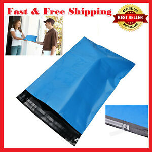 100 Pc Blue 10 X 13 Poly Mailers Shipping Bags Packaging Envelopes 2 5 Mil