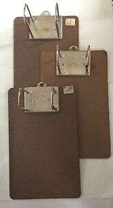 Lot Of 3 Vintage 7 X 11 Arch Clipboards open Binders 2 75 High