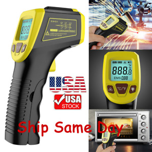 Lcd Digital Industrial Thermometer Non contact Ir Laser Infrared Temperature Gun