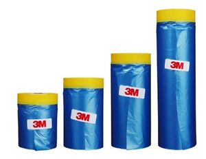 3m Pre Taped Masking Paper Painters Plastic Sheeting Paint Tape For Auto Body