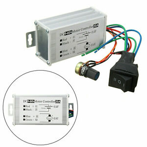 Dc 9v 60v 20a Pwm Motor Stepless Variable Speed Control Controller Switch