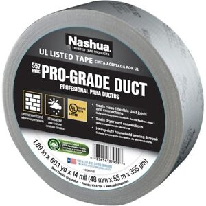 Nashua 1207800 557 hvac Duct Tape Silver 1 89 X 60 1 Yards