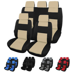 Full Set Car Seat Cover Front Back Protector Fit For Most Car Suv Trunk Van