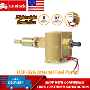 Universal 12v 4 7psi Universal Fuel Pump Electric Inline Low Pressure Gas Diesel