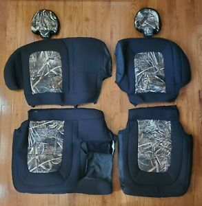 2016 Gmc Canyon Truck Skanda Realtree Camo Neoprene Rear Row Seat Covers Nice