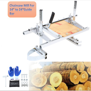 Chain Saw Cutting Mill Log Planking Lumber 14 24 Chainsaw Guide Bar Portable