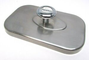 Vintage Soda Fountain Ice Cream Topping Dispenser Stainless Top Lid Pineapple