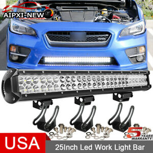 25 26 162w Led Light Bar Combo Lower Bumper Fit Chevy Colorado Gmc Canyon 15 up