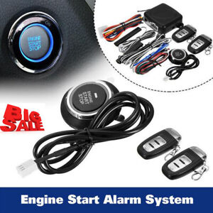 9pcs Start Push Button Remote Starter Keyless Entry Car Alarm System Engine L6g8