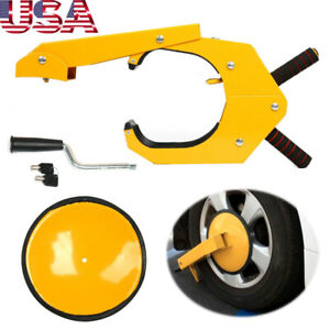 Parking Boot Car Tire Claw Anti Theft Wheel Lock Clamp Rv Boat Truck Trailer