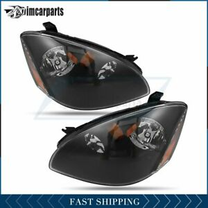 Pair Fits Nissan Altima 2002 2004 Front Headlight Replacement Left Right Sides