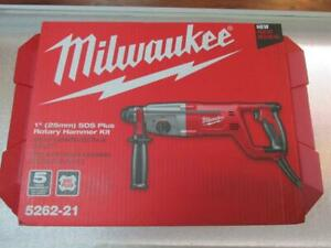 Milwaukee 5262 21 1 Inch Sds Plus Rotary Hammer Kit