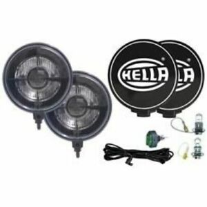Hella 005750991 500 Series Black Magic Round Driving Lights Clear Lens New