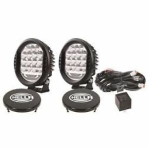Hella 358117171 Valuefit Round Led Driving Light Clear Lens 22 5 Watts New