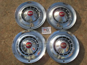 1954 Chevy Bel Air Two Ten 150 15 Wheel Covers Hubcaps Set Of 4
