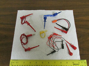 Assorted Pomona E z Hook Micro grabber Electronics Test Leads Various Colors