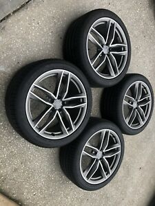 Set 4 Used Genuine Oem Factory Audi Rs6 20 Inch Wheels Tires A6 S6 Avant Quattro