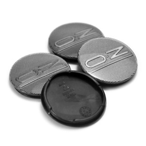 4x55mm Oz Racing Gray Carbon Rim Caps Hub Caps Wheel Center Caps Badges M582