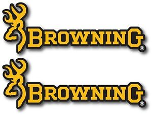 2x Browning Decal Sticker Us Made Truck Vehicle Shotgun Firearms Hunting Deer