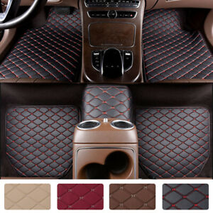 Heavy Duty Leather Floor Mat Front Rear Anti Slip For Car Suv Truck Easy Clean