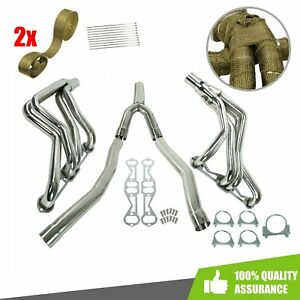 Exhaust Manifold Long Tube Headers Y Pipe For Camaro Firebird 82 92 5 0l 5 7l