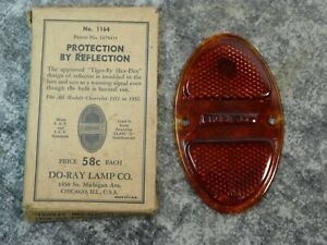 Nos 1931 1932 Chevy Do ray Tail Light Lens Red Glass Hot Rat Rod