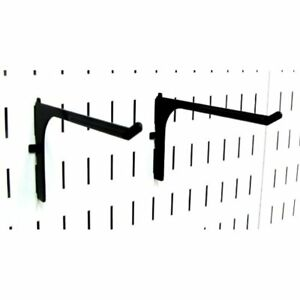 Wall Control Pegboard 6in Reach Extended Slotted Hook Pair Metal Hooks For And