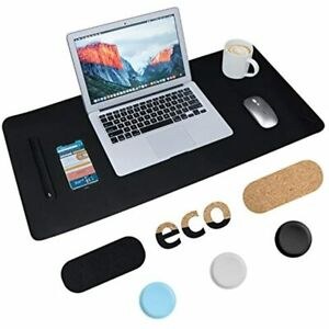 Non slip Desk Pad Cork amp Leather Double sided Table Protector Ultra Thin Mat