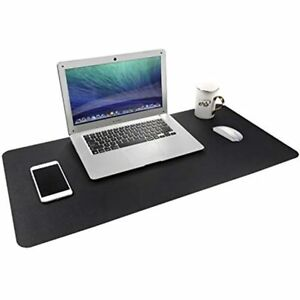 Gogloo Multifunctional Office Desk Pad Dual Sided Pu Leather Mouse Thin And Mat