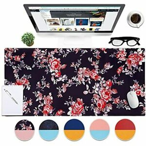 Dual sided Desk Pad 35 4 X 17 7 Inch Mouse Pad Ultra Soft Pu Leather Mousepad