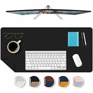 17x36 Desk Mat Office Smooth Pu Leather Protector Blotters Writing Topper With