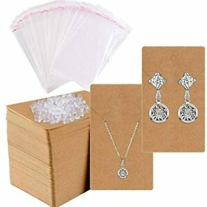 Earring Cards For Display 200 Pcs Holder Packaging Jewelry With 400 Backs And