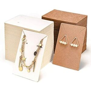 Earring Display Card necklace Cards 600 Pack Set 300 Cards 300self sealing Bags