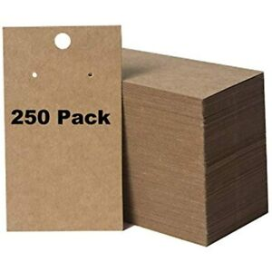 250 Pack Earring Display Cards And Bracelet Jewelry Wholesale Kraft Hanging X