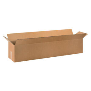 40 X 6 X 6 Long Corrugated Boxes Ect 32 Brown Shipping moving Boxes 25 bundle