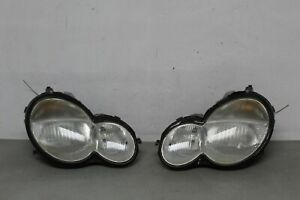 2002 2003 2004 Mercedes C230 Coupe W203 Headlights Pair C class Coupe