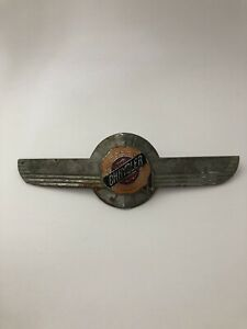 Vintage 1950 Chrysler Windsor Hood Ornament Emblem Cloisonn Fox Co Original