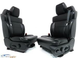 Ford F 150 Regular Extended Cab Black Leather Seats 2004 2005 2006 2007 2008