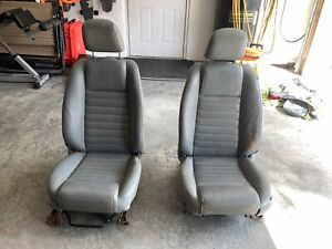 2005 2009 Ford Mustang Gt Grey Leather Seats Front