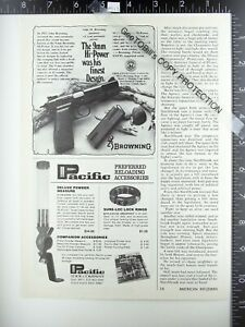 1978 Browning 9mm Hi Power automatic pistol Pacific reloading ad Lyman Marksman $9.50