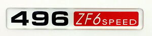 496 Zf 6 Speed Emblem b Super Sized Satin