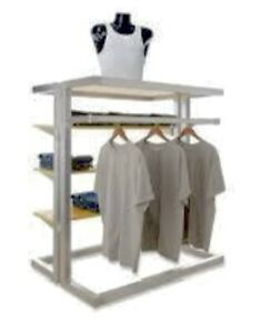 Alta Upscale Island Merchandiser Cloth Rack Shelving Store Fixtures Need To Sale