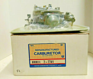 Motorcraft Carburetor 2bbl 1981 1982 Ford 302 5 0 V8 Uremco 7 7741