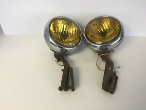Pair Blc 5 3 4 Fog Lights With Brackets Cadillac Lincoln Ford Chevrolet Gmc