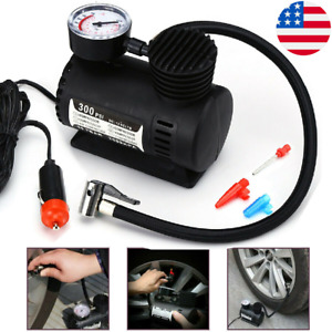 300psi Mini 12v Air Compressor Auto Car Electric Tire Air Inflator Pump Portable