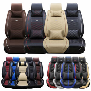 Luxury Car Seat Cover Waterproof Leather 5 Seats Full Set Front Rear Back Cover Fits Honda Civic