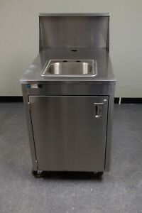 29452 Qualserv Mobile Hand Sink Open Box Hot Cold Water